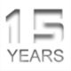 15 years icon